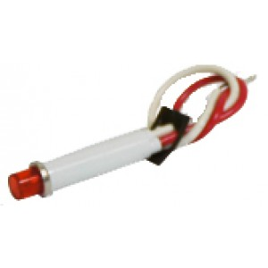 Panel Light, Red, High Intensity LED, 12v, 10ma. Used with Low Level Indicator