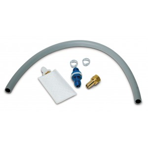 "Fuel Pick-up Kit 3/8"" - 6 AN - with bulkhead fitting, hose adapter, filter (FS38), 2' of hose, and hose clamps"