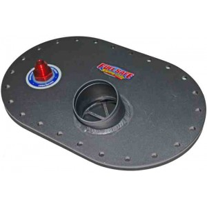 "2.25"" Remote 6x10 Fill Plate- Aluminum -  with -8 Check Valve for Early Mustang (1964½-1970)"