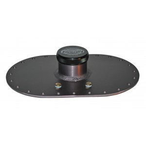 "Standard 6x10 Fill Plate- Aluminum -  with 2.50"" Threaded Cap - No Fitting Holes - Aluminum"