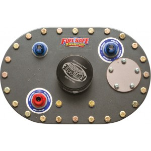"""6x10 Aluminum Fill Plate with Direct Fill w/ 2.5"""" threaded cap"""