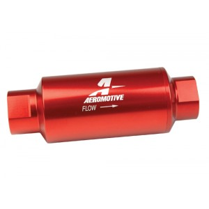Aeromotive 40 Micron In-Line Fuel Fileter Red Anodized