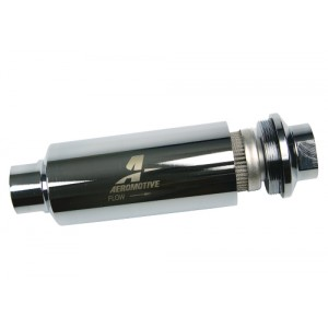 Stainless Steel in-line Fuel Filter 100 Micron Aeromotive