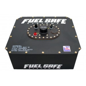 12 Gallon Race Safe Racing Fuel Cell, Complete With Black Powder Coat (Standard)
