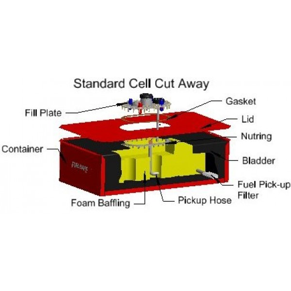 Enduro Cell - Complete Fuel Cell 5-44 Gallon