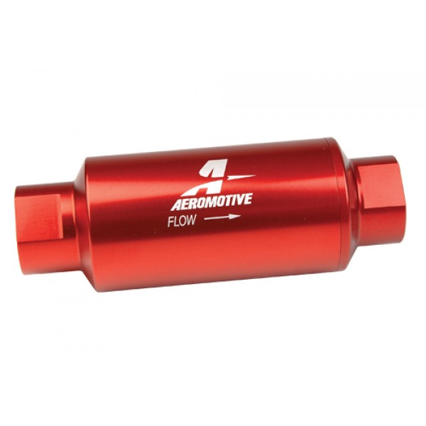 Aeromotive In-Line Fuel Filter 40 Micron FF-12335 Red Anodized