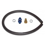 "uel Pick-up Kit 3/4"" -12 AN - with bulkhead fitting, hose adapter, 3' of hose, and hose clamps, No Filter"