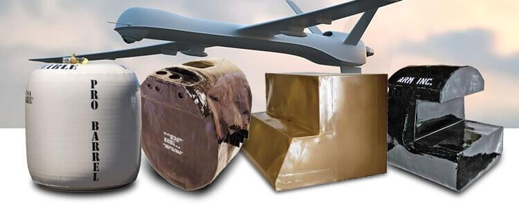 UAV fuel bladder rotorcraft